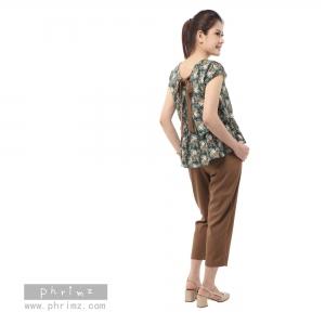 ชุดให้นม Phrimz : Nerine Breastfeeding Top with Tapered Pants - Green