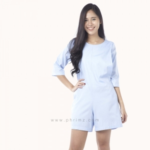 ชุดให้นม Phrimz : Emma Breastfeeding Jumpsuit - Sky Blue