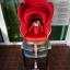 คาร์ซีทมือสอง Aprica Marshmallow สีแดง + หมวก รหัส CS0071 thumbnail 1