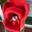 คาร์ซีทมือสอง Aprica Marshmallow สีแดง + หมวก รหัส CS0071 thumbnail 3