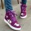 รองเท้าผ้าใบหุ้มข้อเสริมสูงลายพรางแฟชั่น thumbnail 1