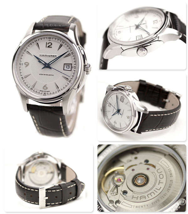 pretty nice ea4d7 9f5f9 Hamilton H32455557 นาฬิกาผู้ชาย Hamilton รุ่น H32455557, Jazzmaster  Viewmatic Automatic Men's Watch